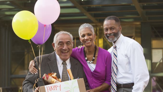 Premium: Retirement party retiree older workers