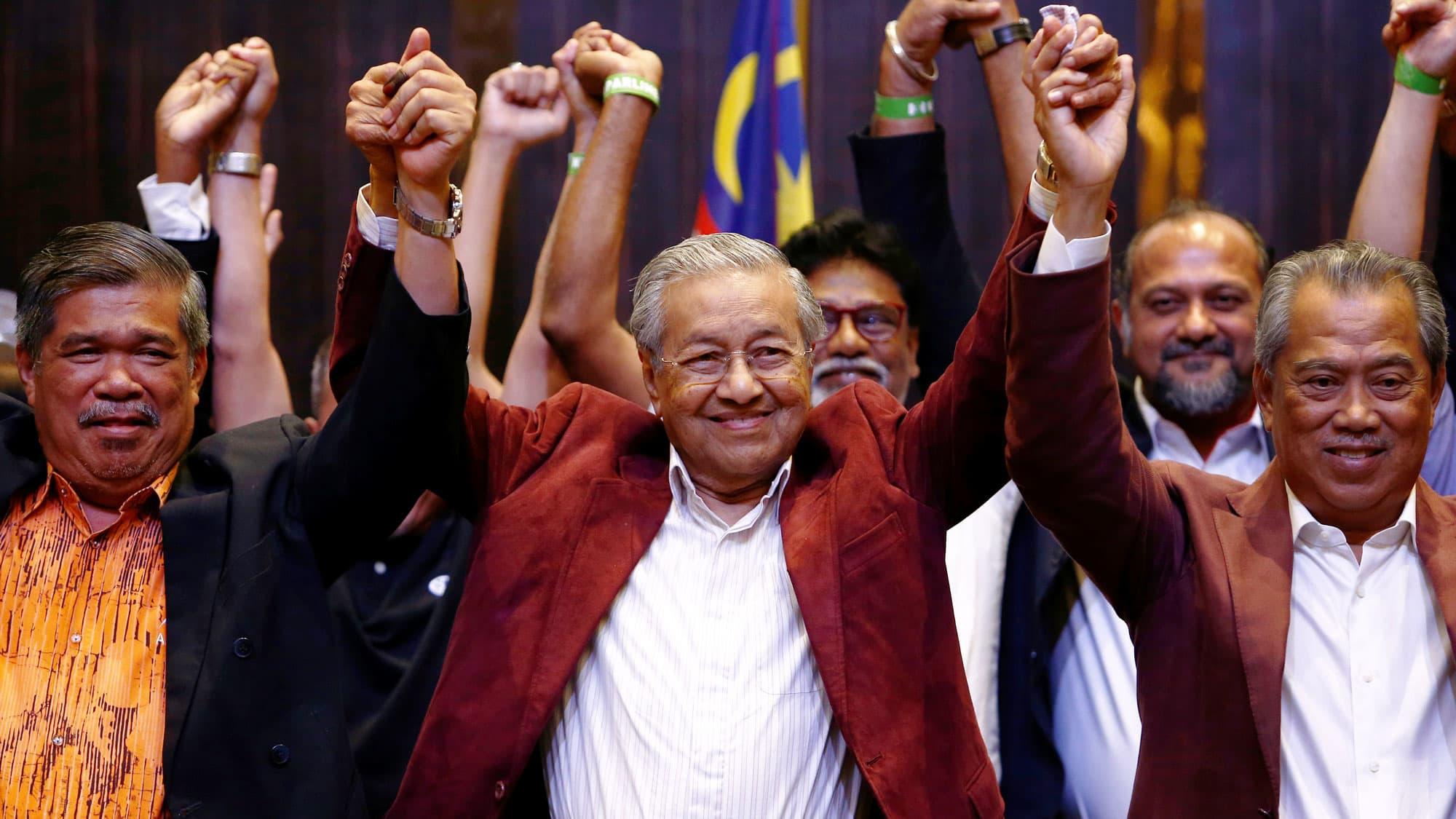 Mahathir's Pakatan Harapan government 1 year after shock election win