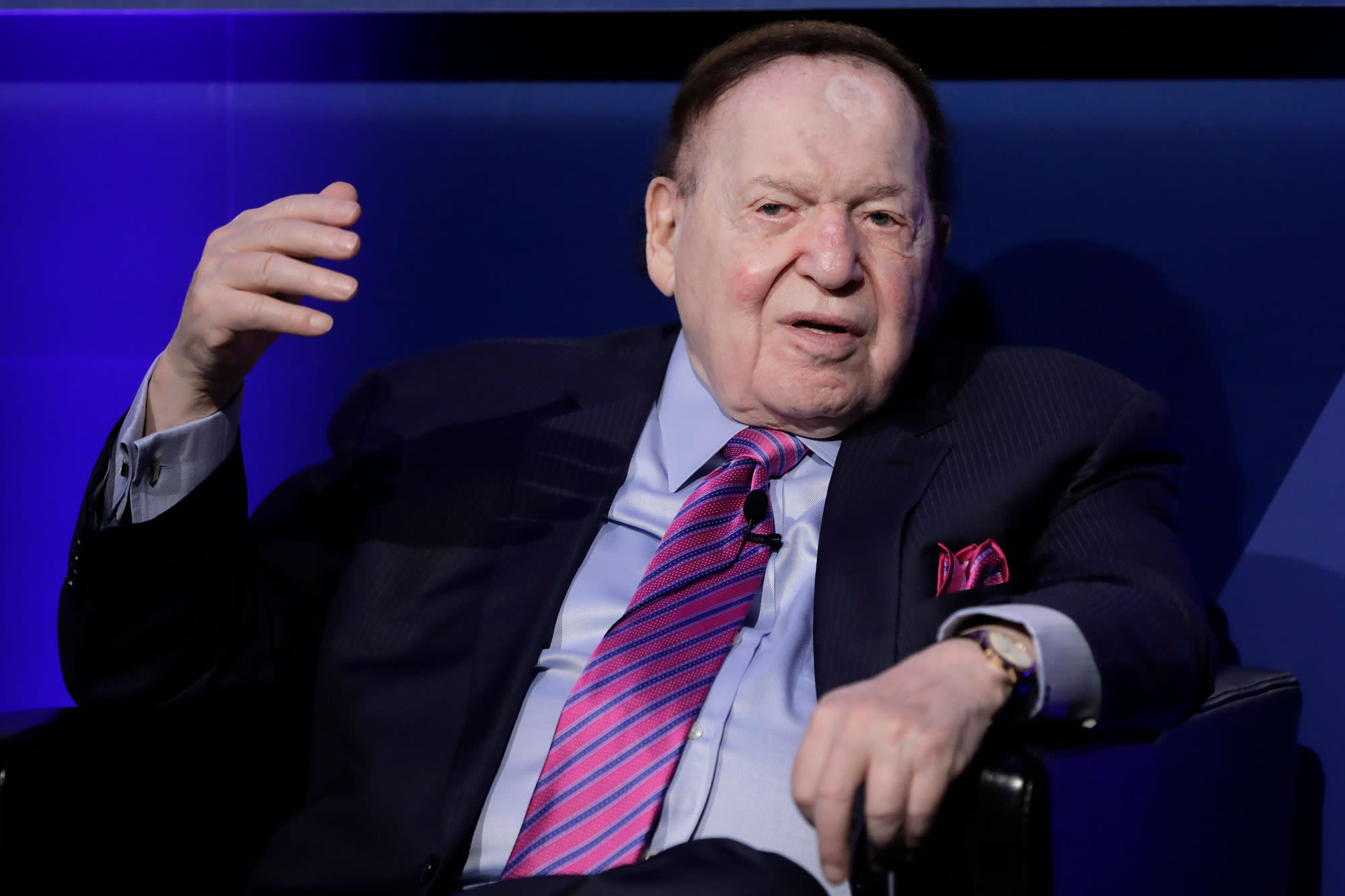 Republican megadonors Sheldon Adelson and wife give a whopping $213,000 to Senate GOP fundraising committee