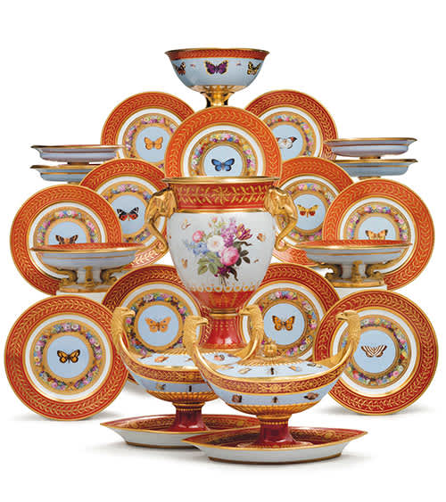 Rockefeller Auction Napoleon tea set