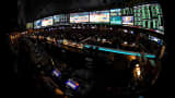 Inside the 25,000-square-foot Race & Sports SuperBook at the Westgate Las Vegas Resort & Casino which features 4,488-square-feet of HD video screens.