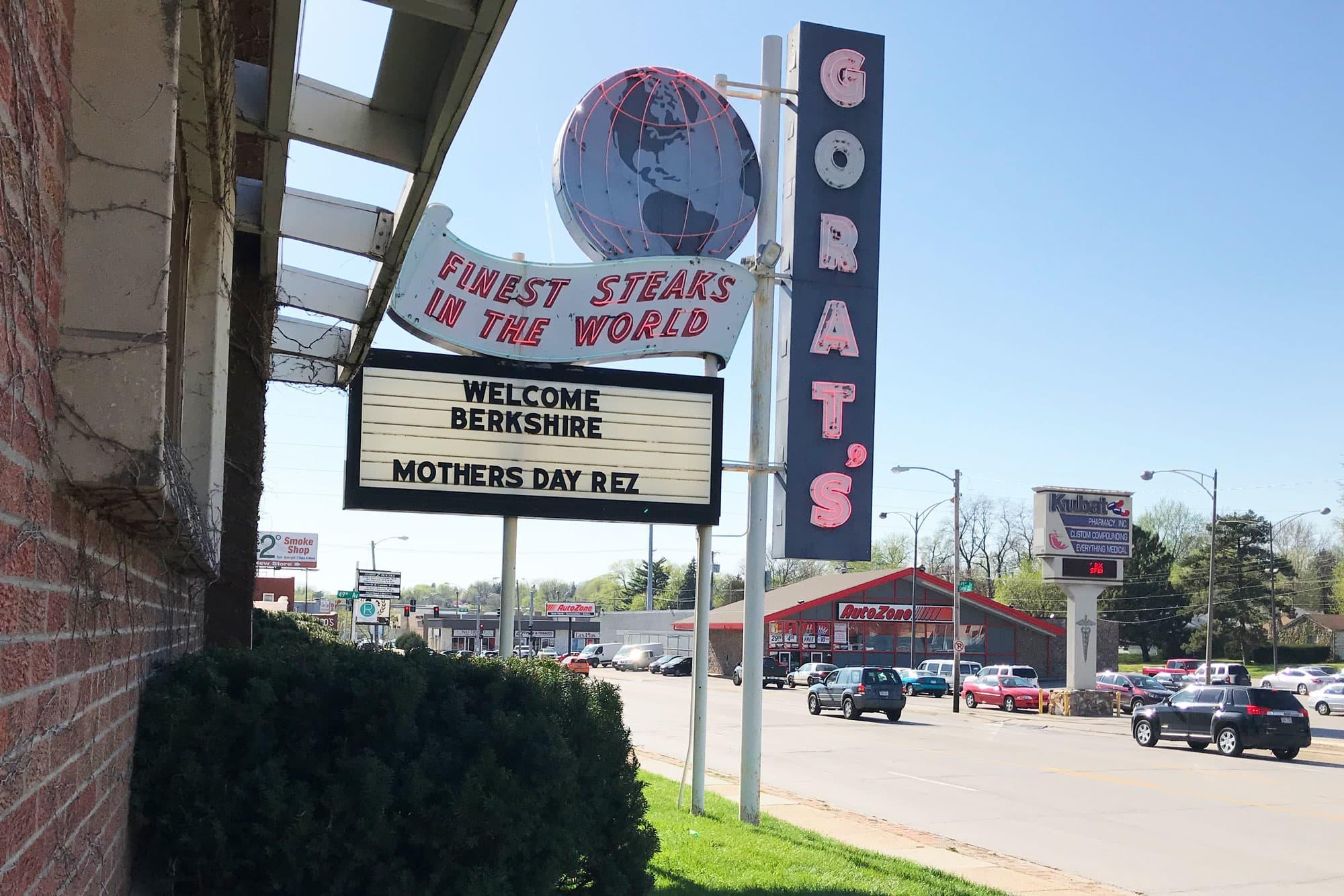Gorat's Steakhouse in Omaha, Nebraska