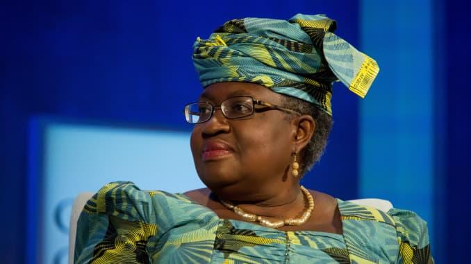 Ngozi Okonjo-Iweala, mantan menteri keuangan Nigeria dan kepala WTO yang baru.