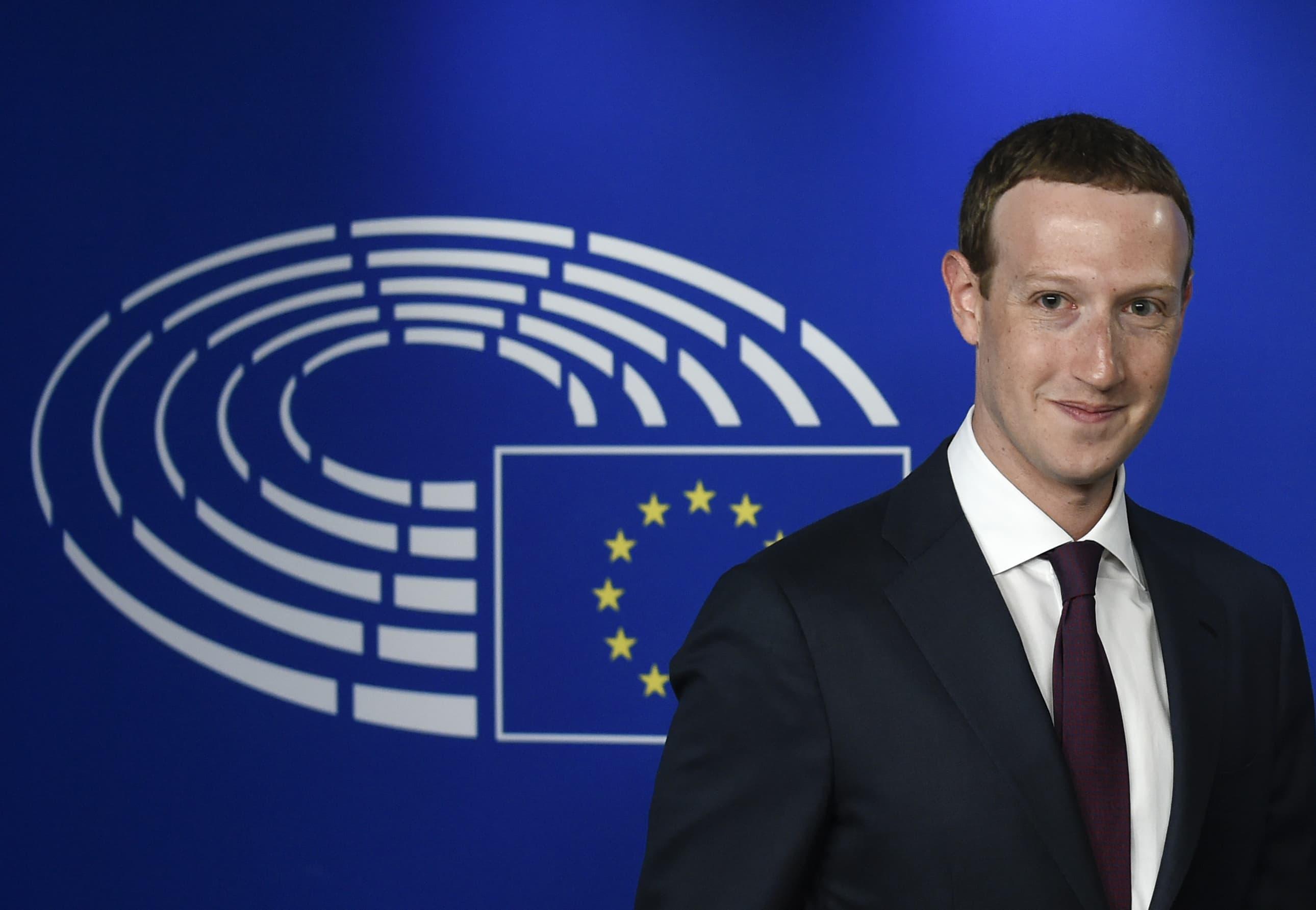 Premium: Mark Zuckerberg EU Parliament 180522-003