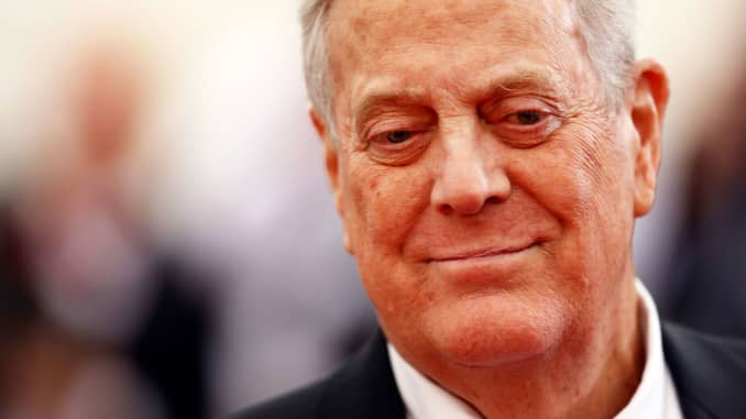 Charles David Koch We Know Who You Are >> David Koch Billionaire Industrialist And Libertarian Activist Dies