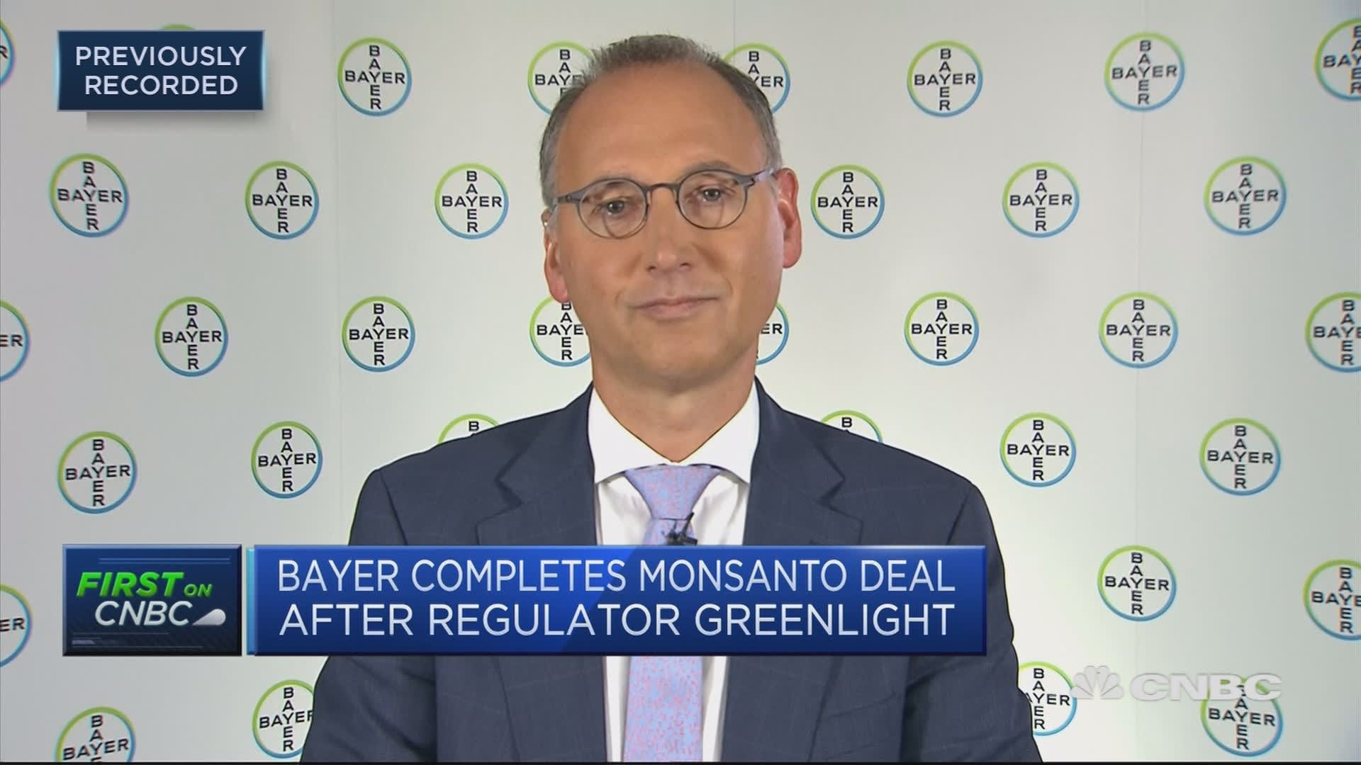 Bayer CEO: Monsanto deal will create $1 2 billion in synergies