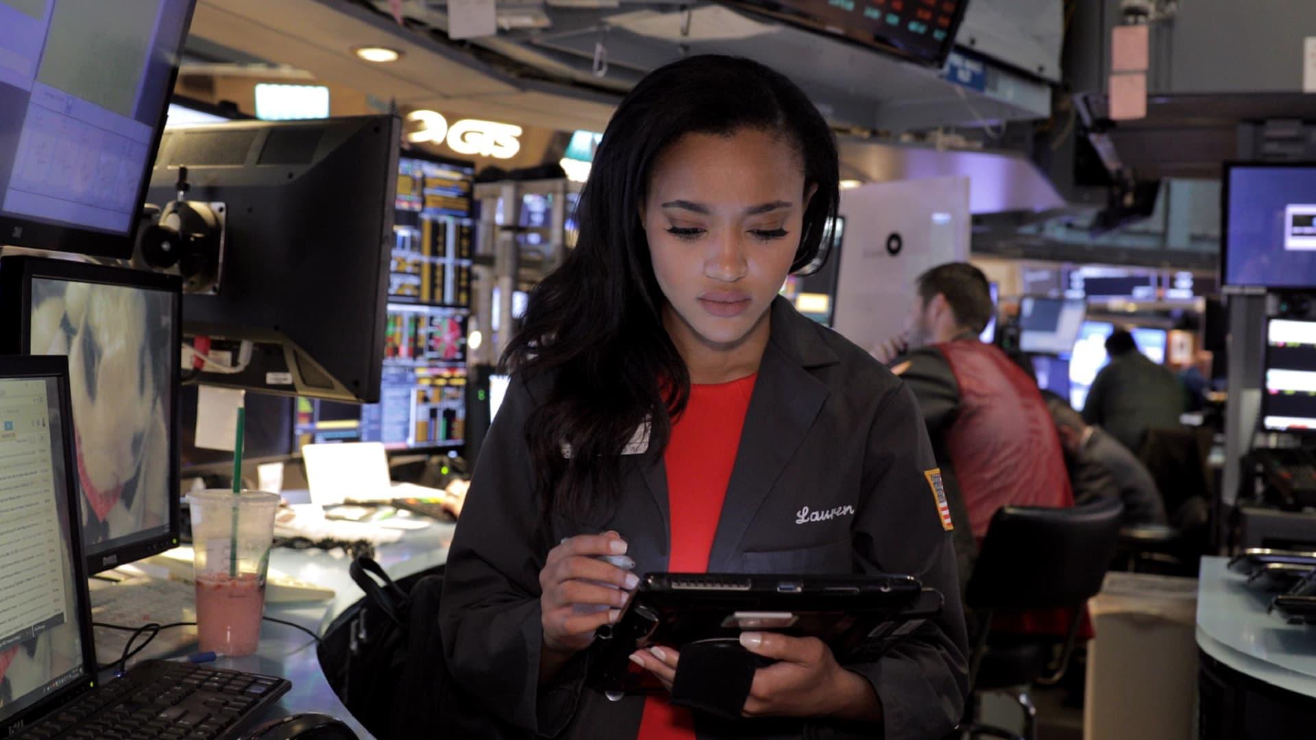 NYSE trader/broker Lauren Simmons