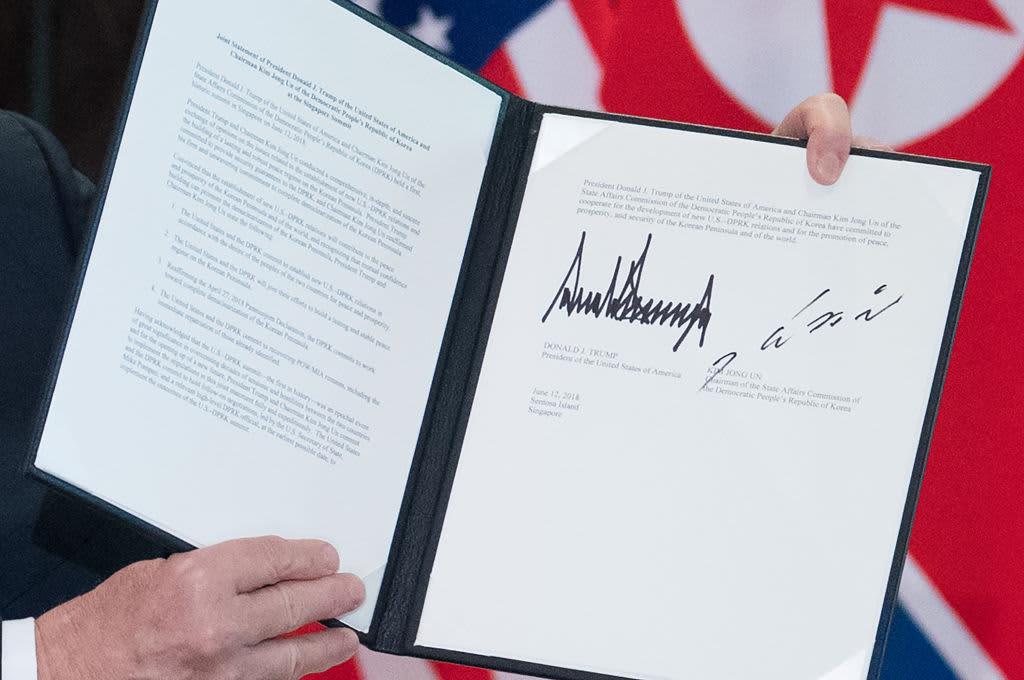 Full text of the Trump-Kim summit agreement