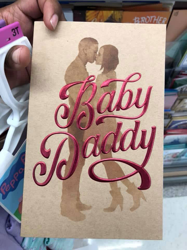 ONE TIME USE: Baby Daddy card chart asset