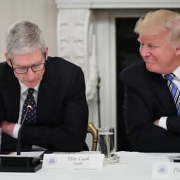 Trump says Apple CEO Tim Cook is a 'great executive because he calls me and others don't'