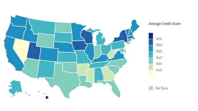 Map: credit scores