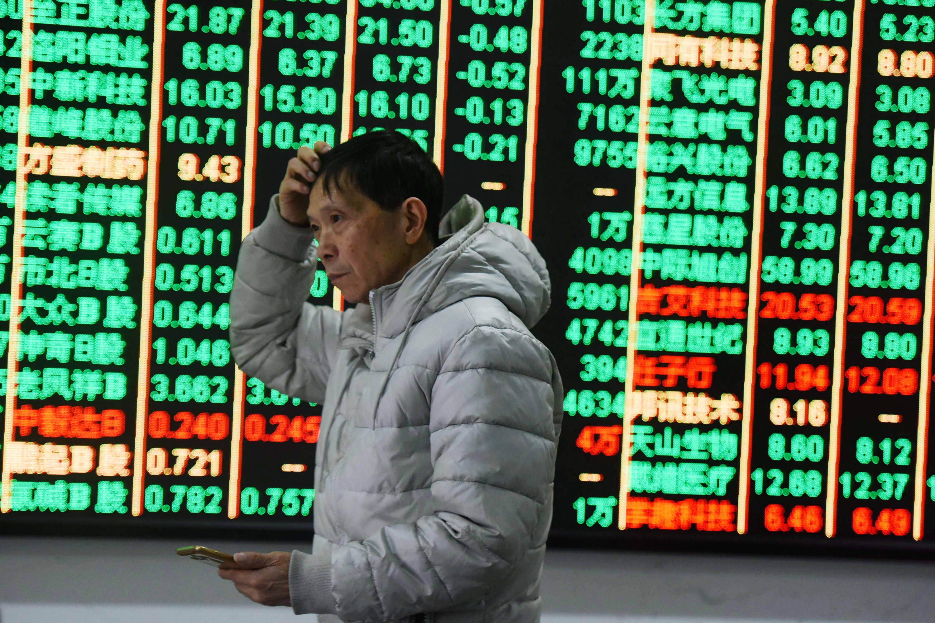 Stocks in China mostly tumble; Japan markets closed for 10-day holiday