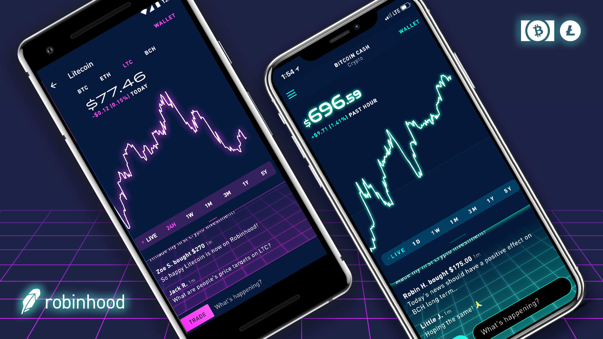 Trading app Robinhood adds two new cryptocurrencies despite bear market