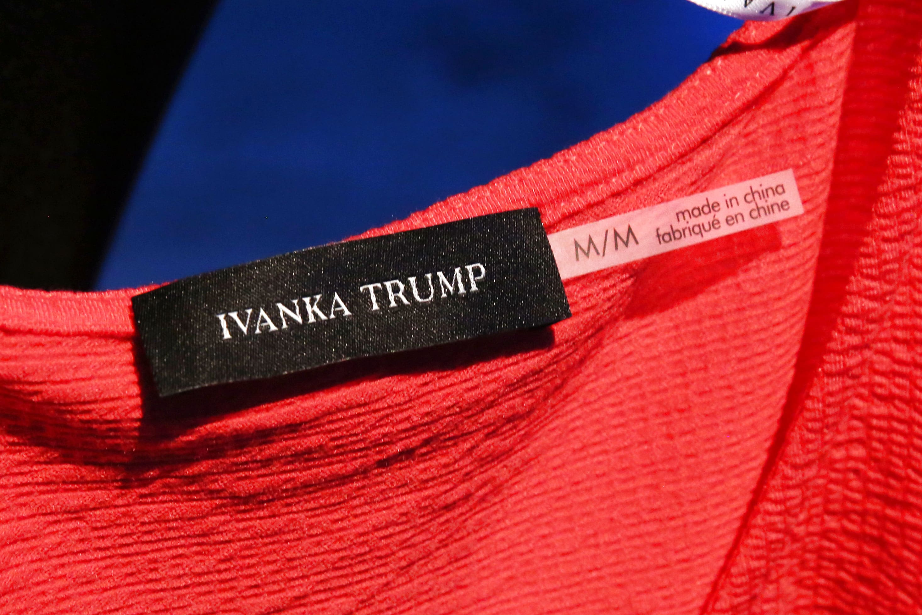 "A ""Made in China"" label inside an Ivanka Trump dress."