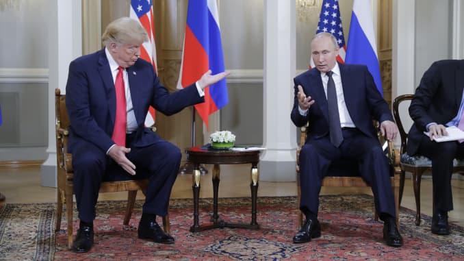 China Watches As Donald Trump Meets Vladimir Putin