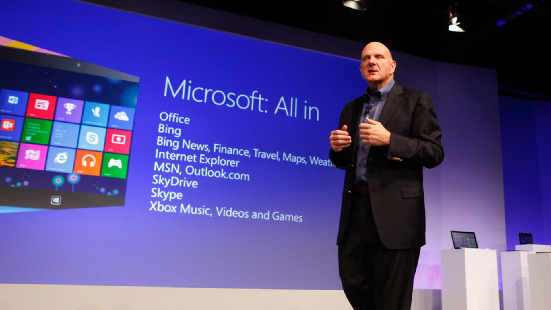 Former Microsoft CEO Steve Ballmer in 2012.