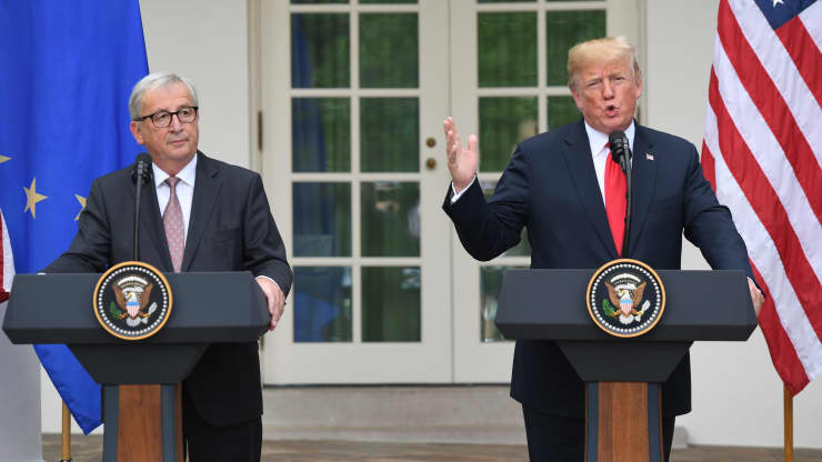 GP: US-EU Trade, tariffs Donald Trump Jean-Claude Juncker