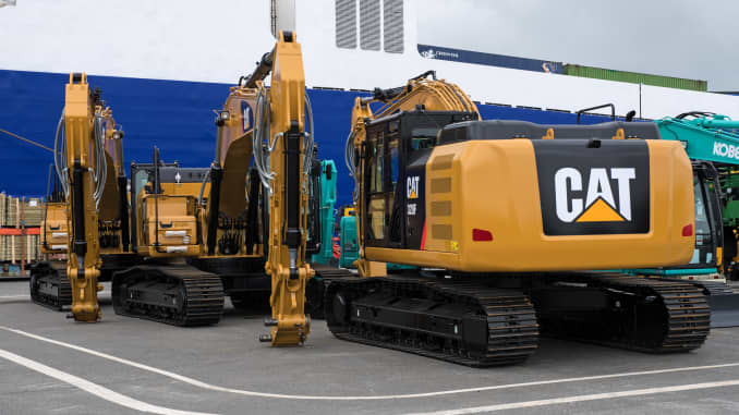 Stocks making the biggest moves midday: Caterpillar