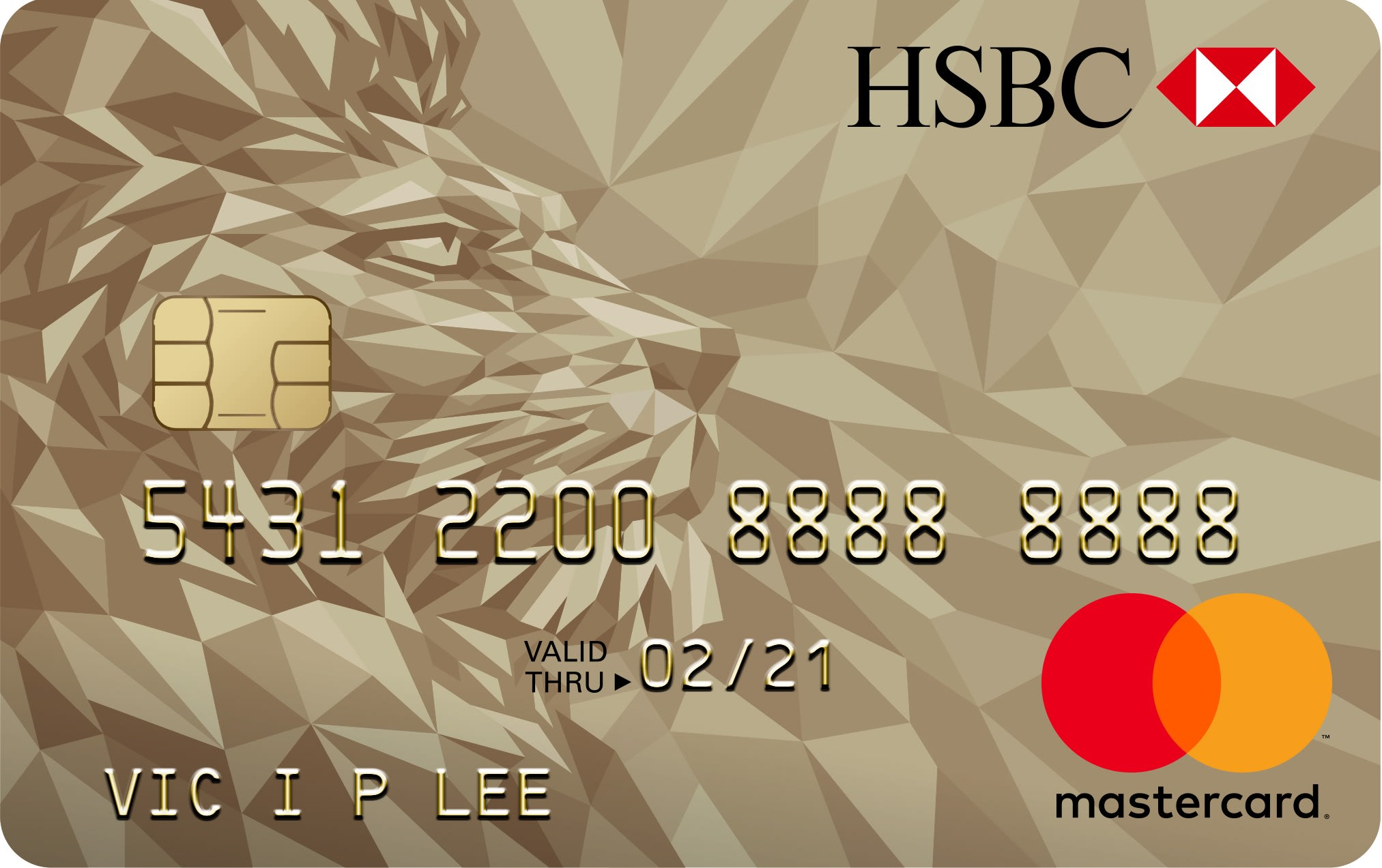 Credit cards: HSBC Gold mastercard