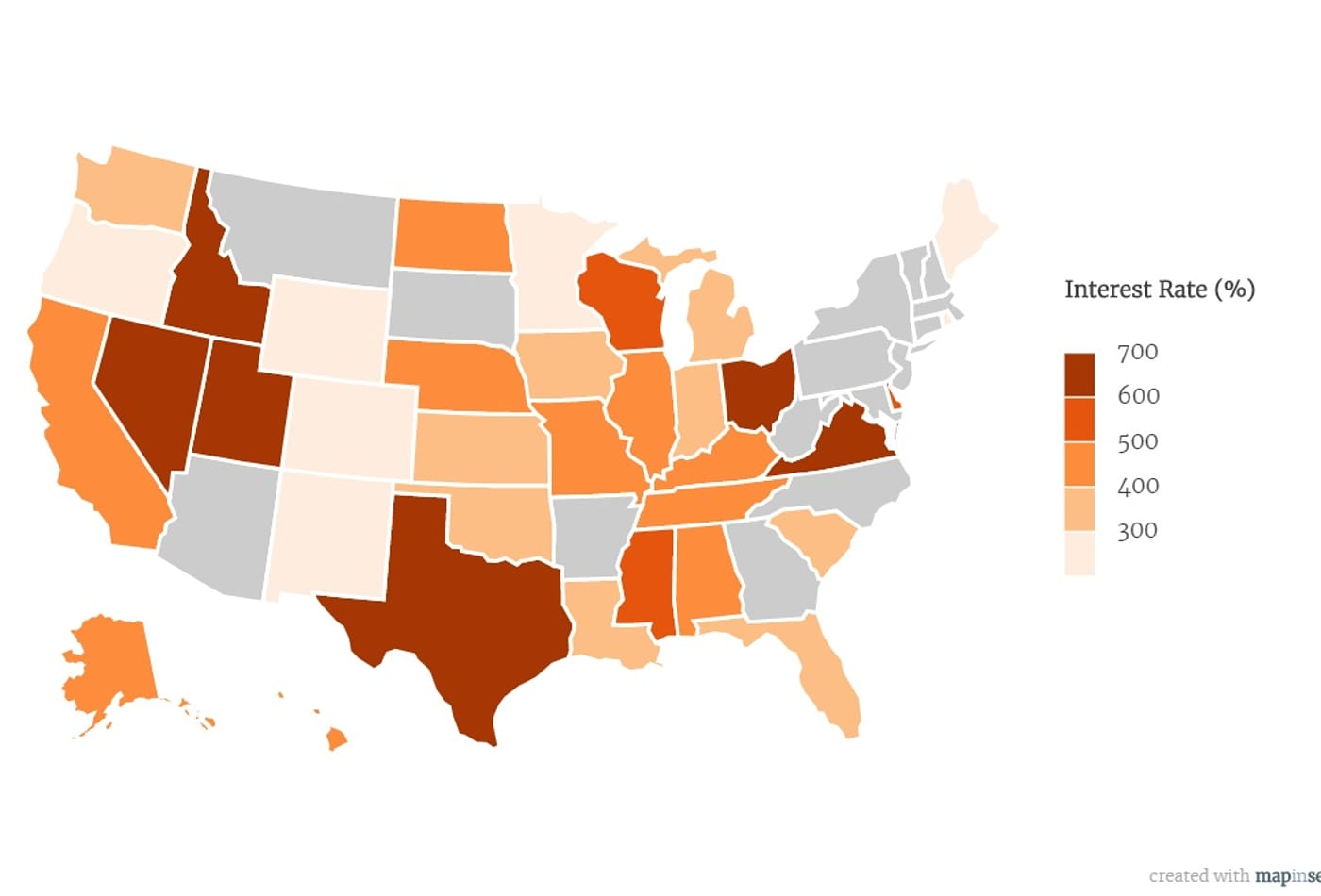 Low Interest Payday Loans >> This Map Shows The States With The Highest Payday Loan Rates