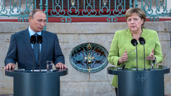 Merkel We Sanction Russia For The Sake Of International Law