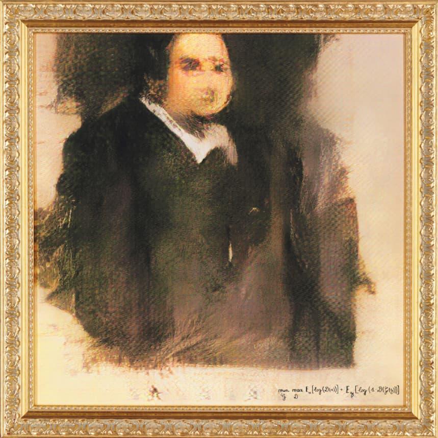 One time use: Portrait of Edmond Belamy