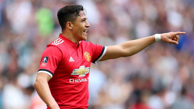 GS:  Alexis Sanchez of Manchester United celebrates