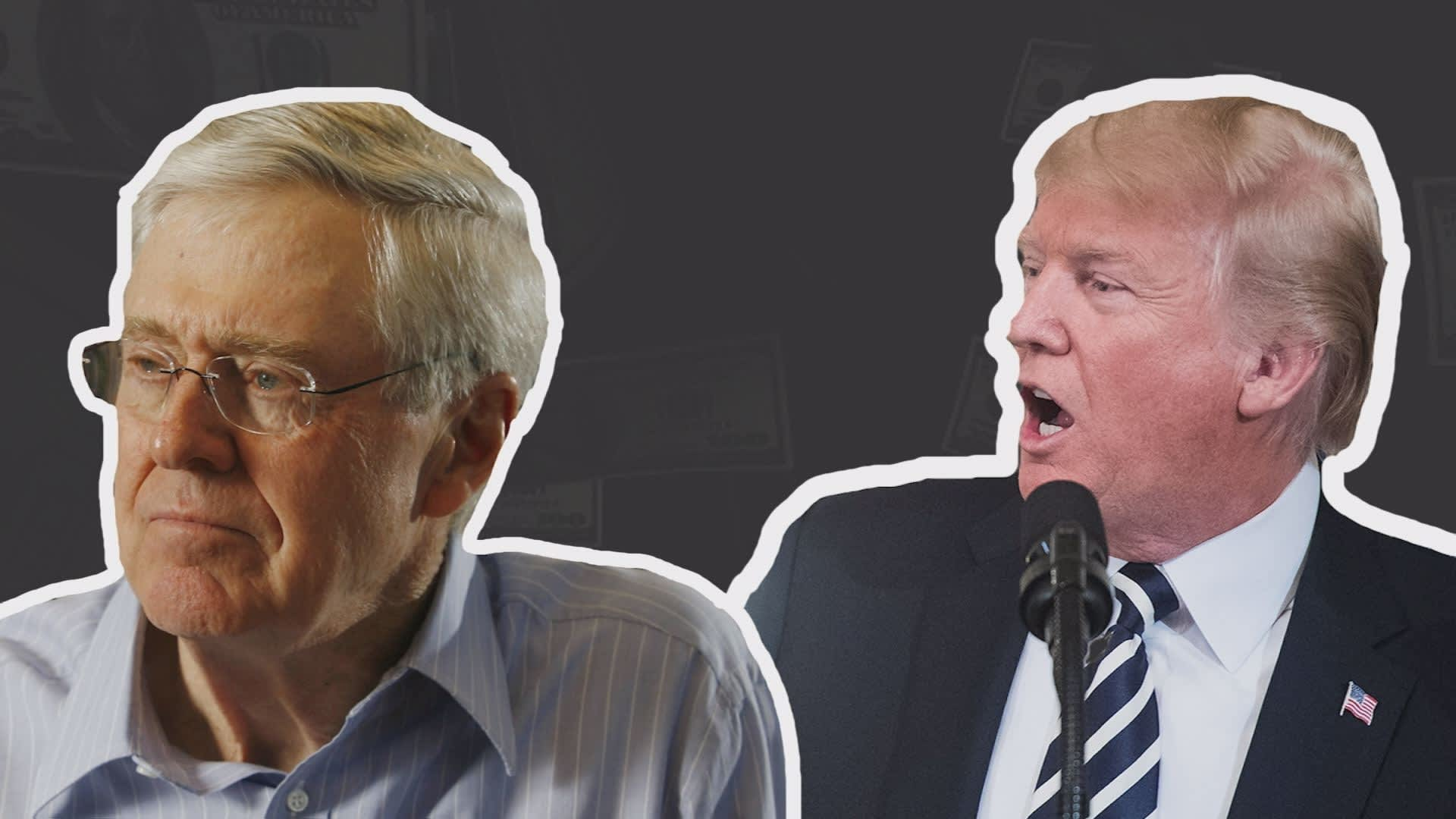 Here's why the Koch brothers are at odds with President Trump