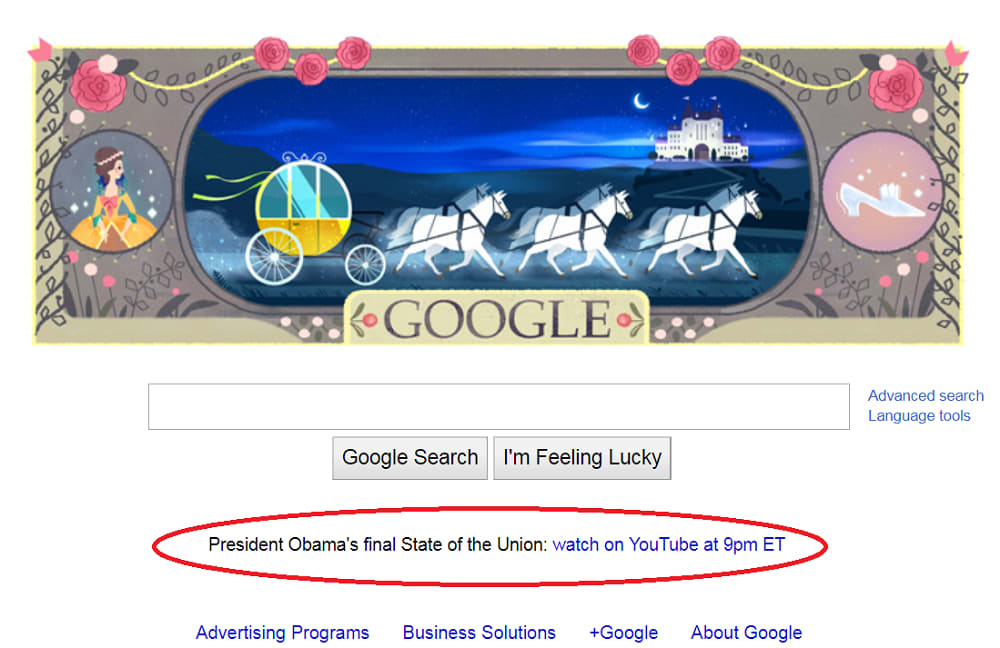 SCREENSHOT google sotu 2016