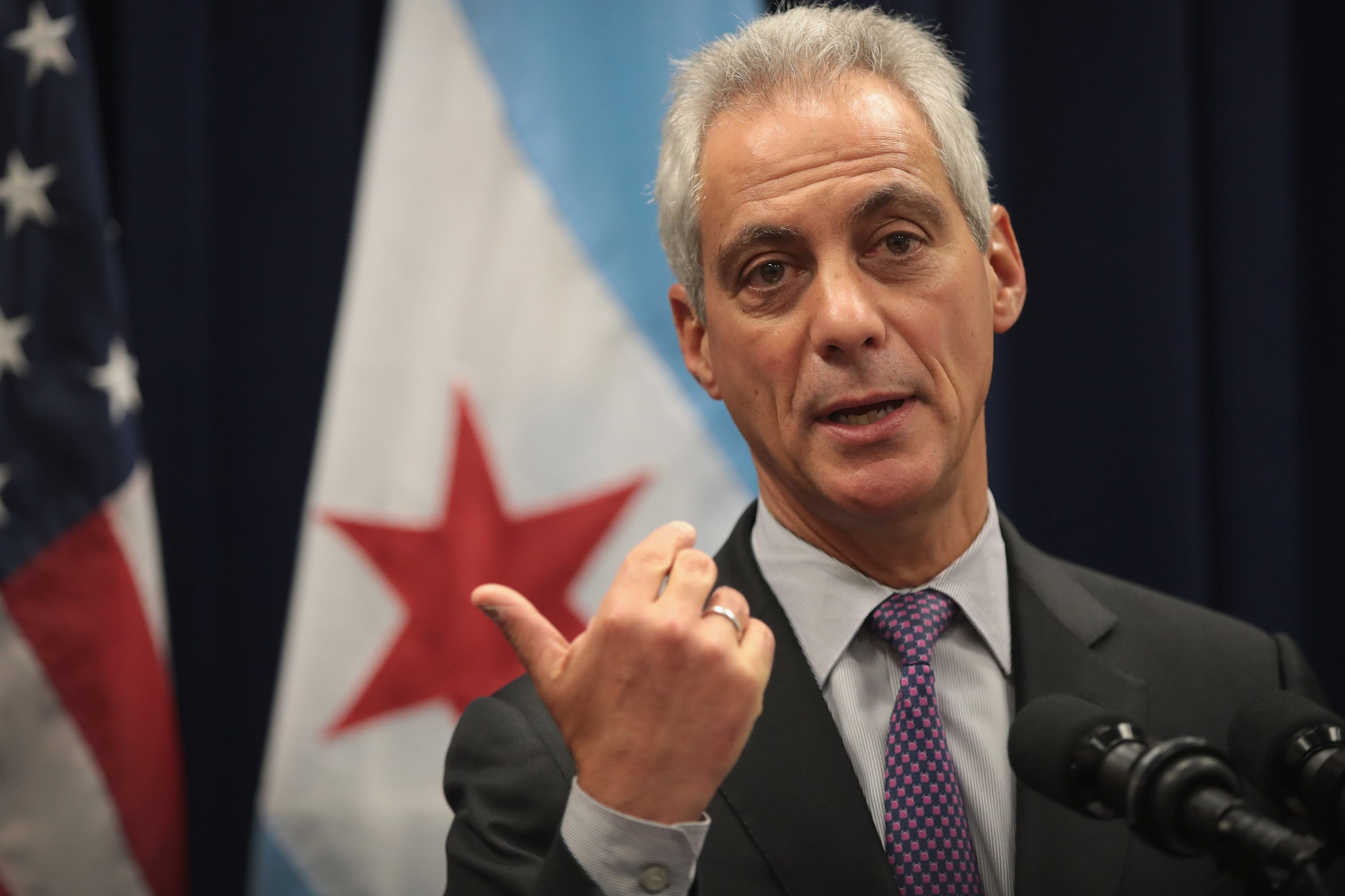 GS: Chicago Mayor Rahm Emmanuel Speaks To The Press After City Council Meeting