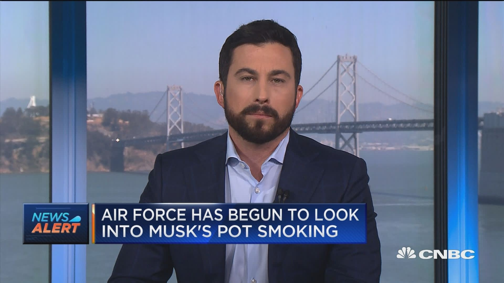 Air Force looking into Elon Musk's pot smoking