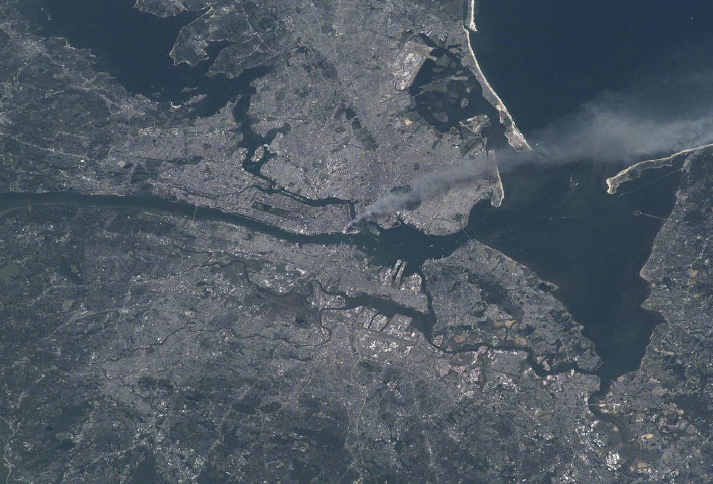NASA took these images of 9/11 from space 17 years ago