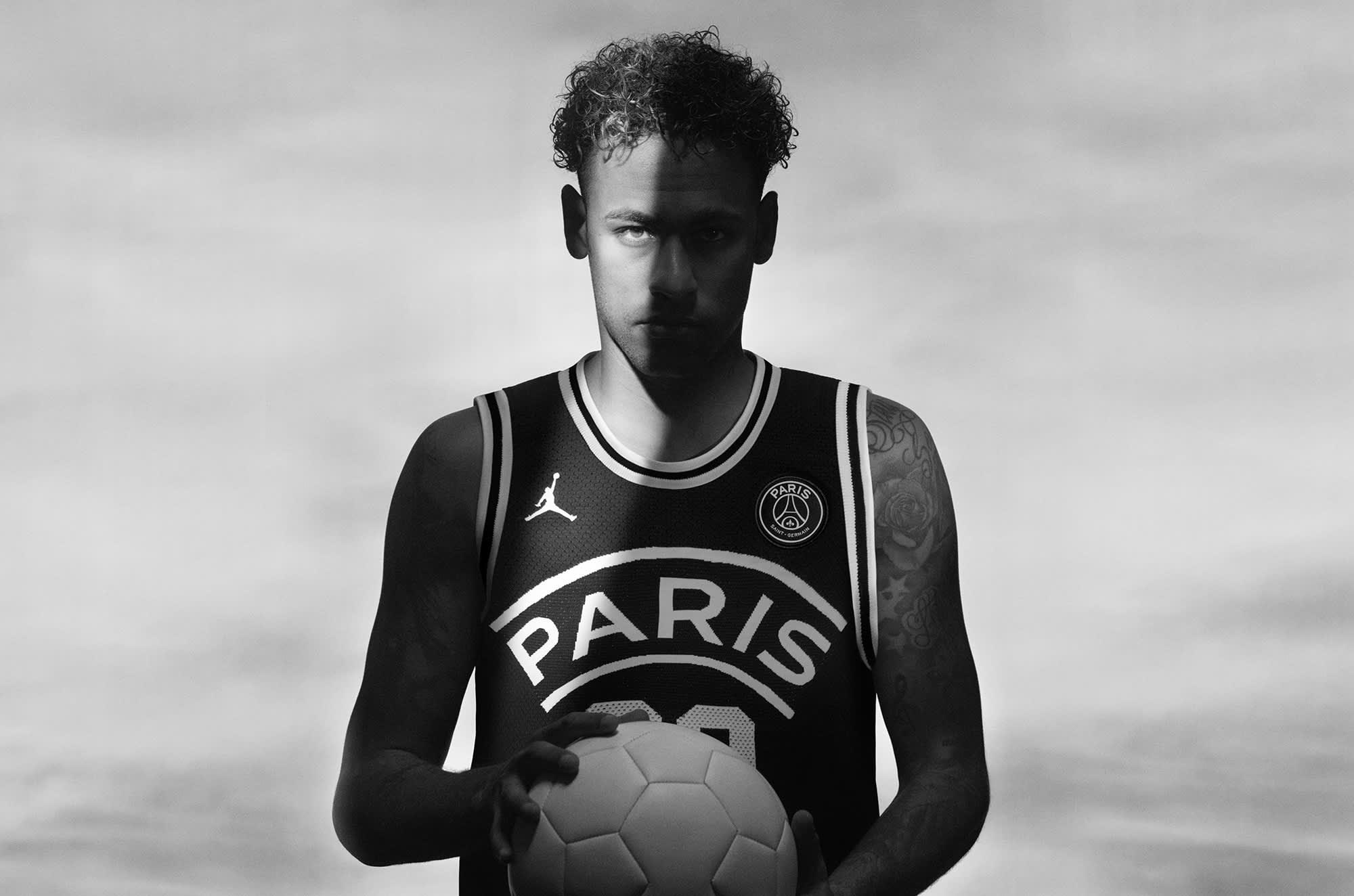 Nike Air Jordans pass basketball with Paris Saint-Germain soccer club