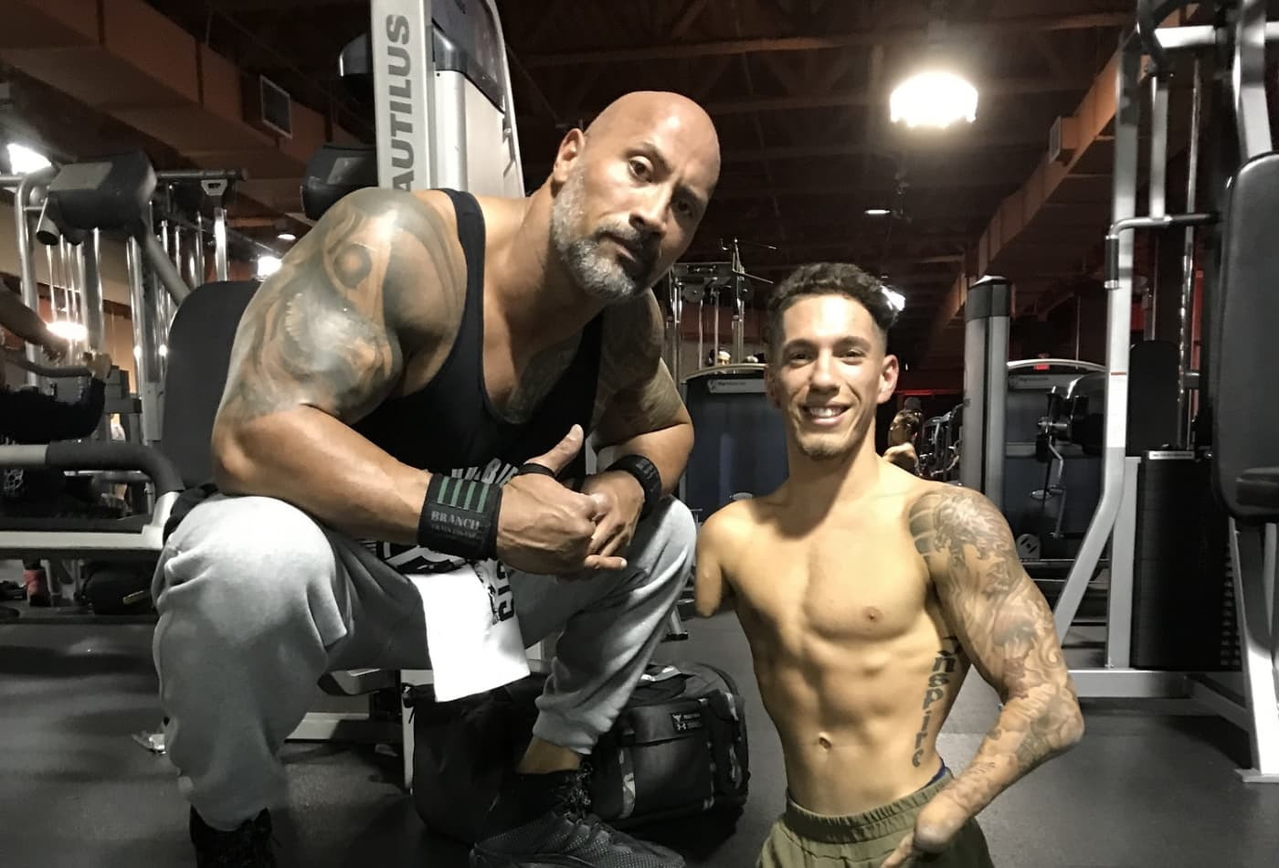 Here's the inspiring 22-year-old bodybuilder who Dwayne 'The Rock' Johnson asked to meet
