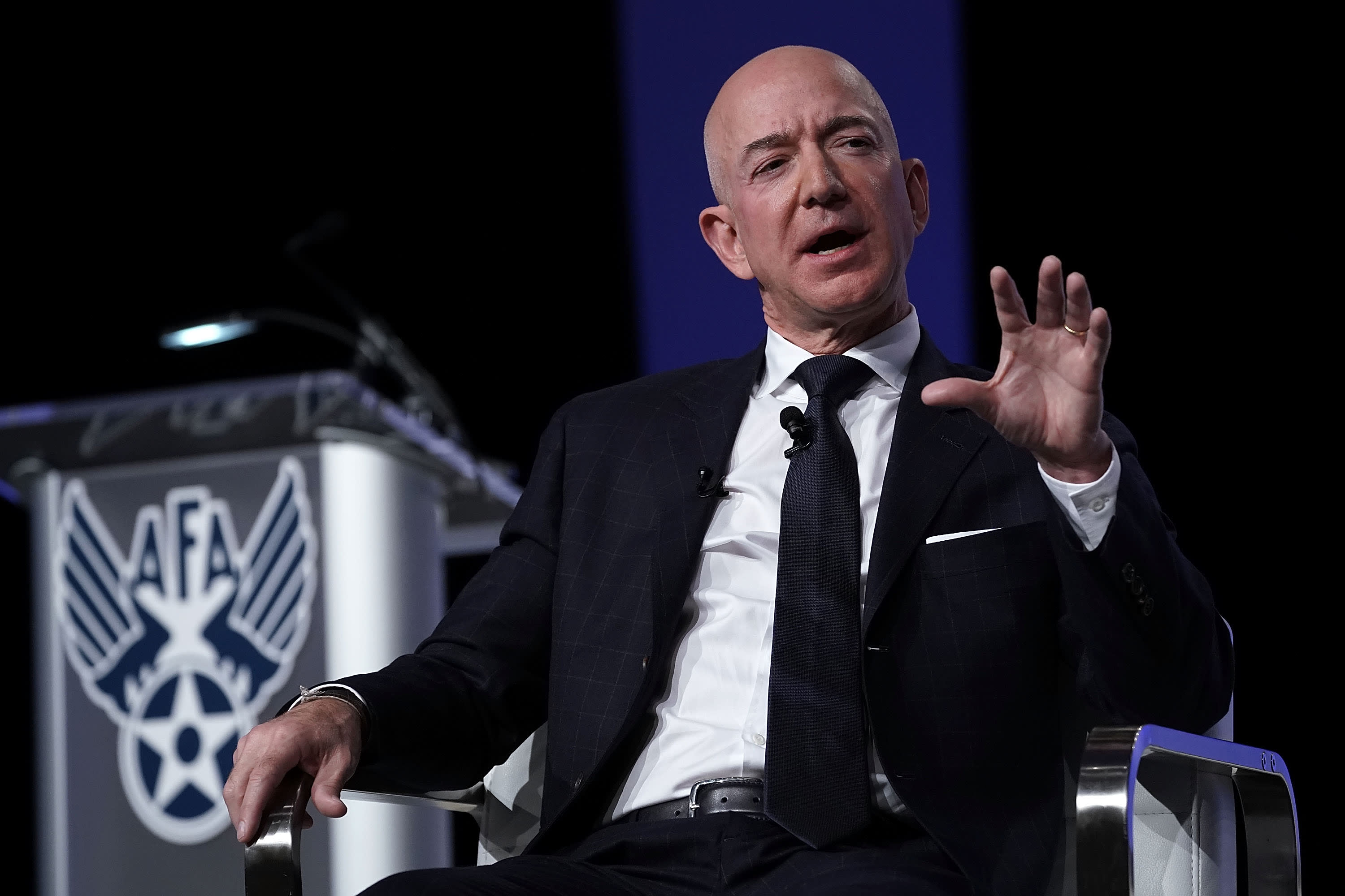 Jeff Bezos told employees that fear of Amazon is overblown — some rivals are proving him right