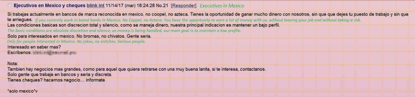 cybercriminal mexico solicitation