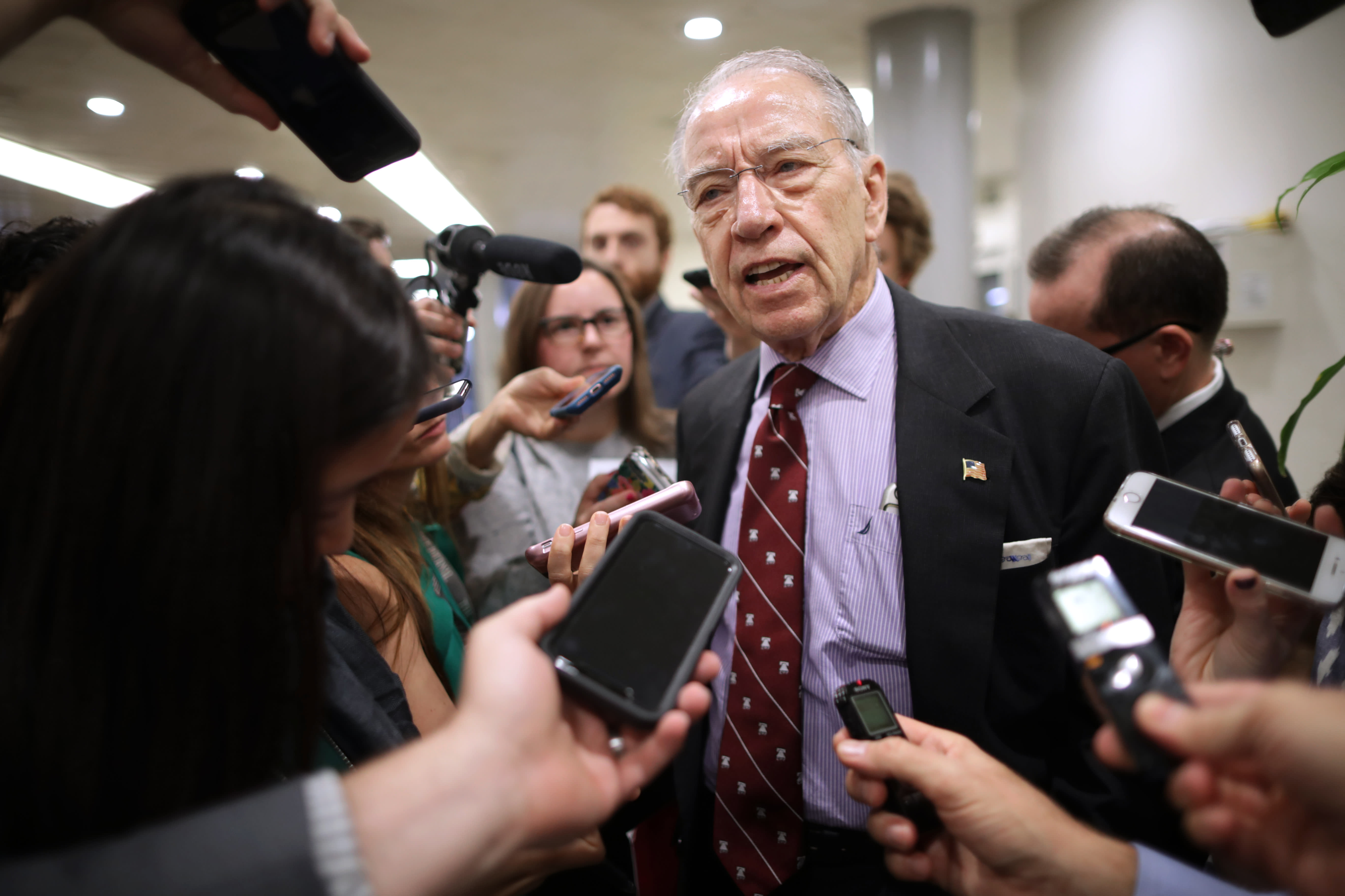 Iowa Sen. Chuck Grassley: Farmers don't want aid, they want trade