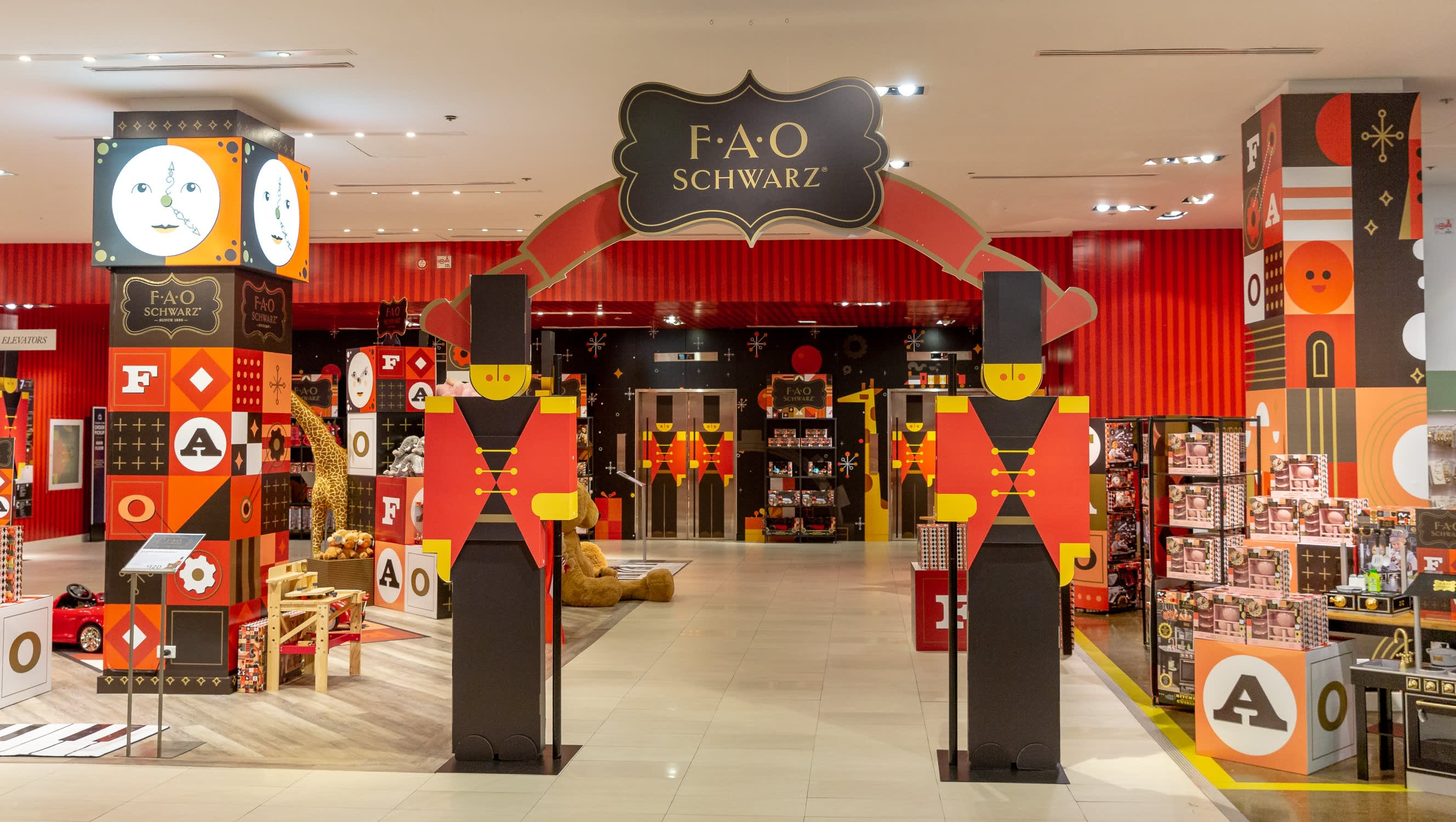 The inside of one of the mini FAO Schwarz shops within Hudson's Bay in Canada.