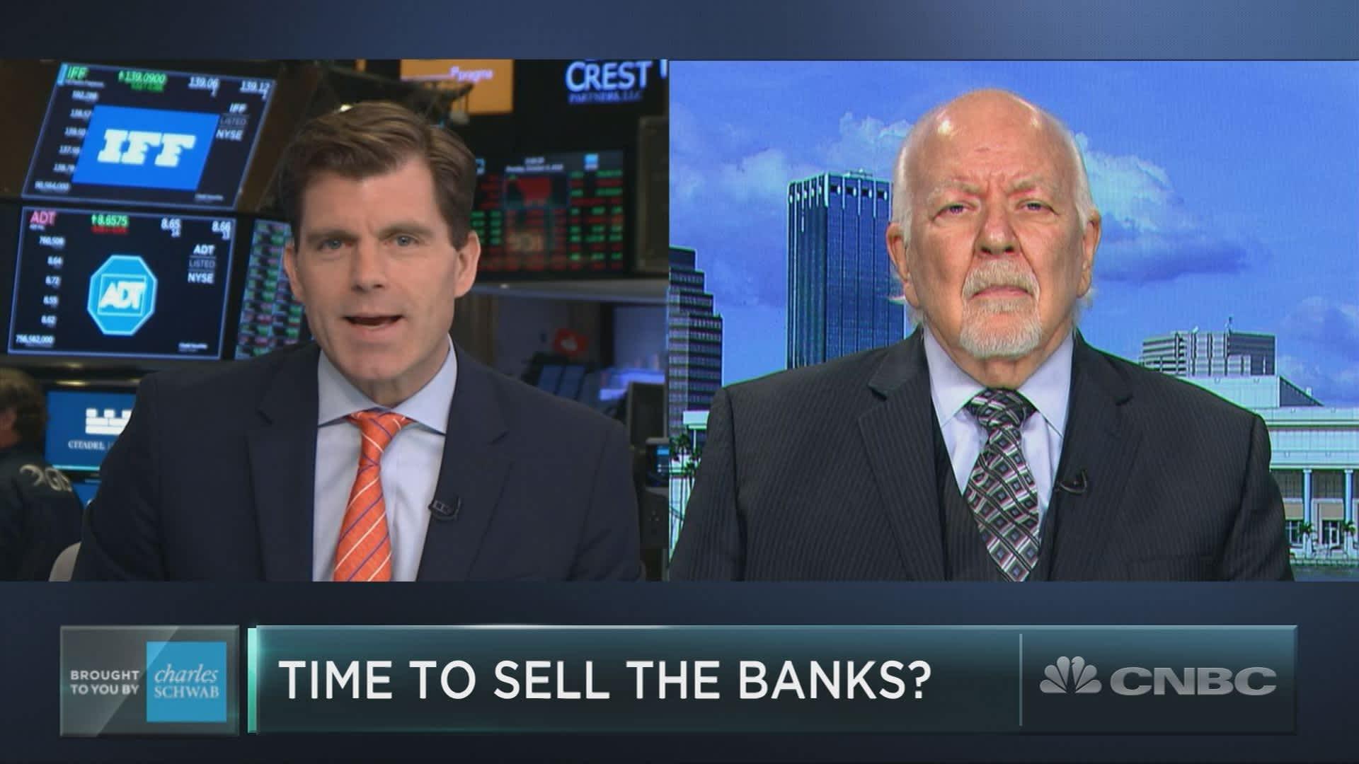 Veteran analyst Dick Bove is warning on bank stocks ahead of earnings