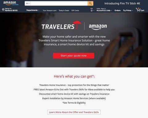 Amazon Smart home Travelers Insurance