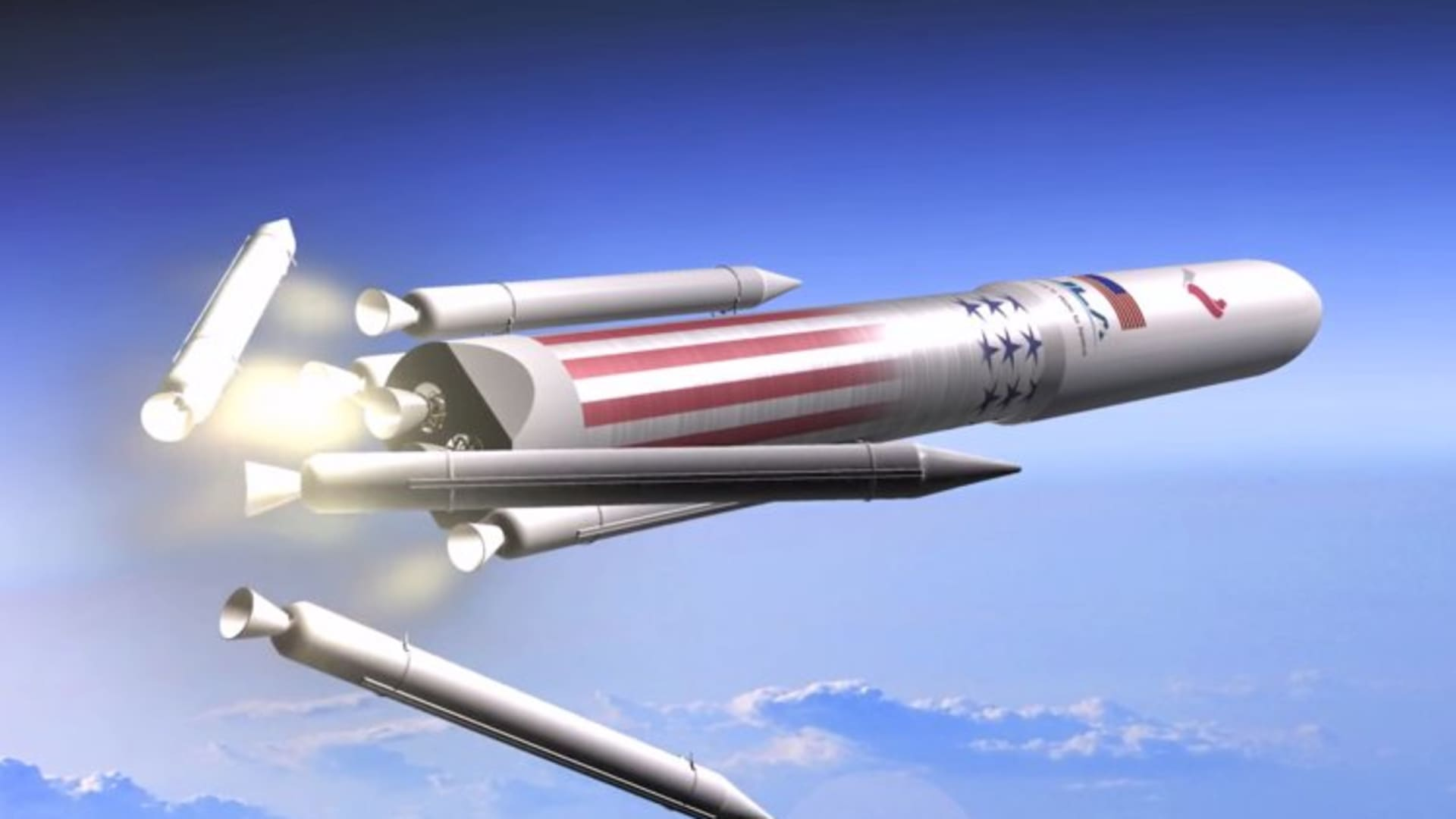 Artist rendering of United Launch Alliance's Vulcan system.