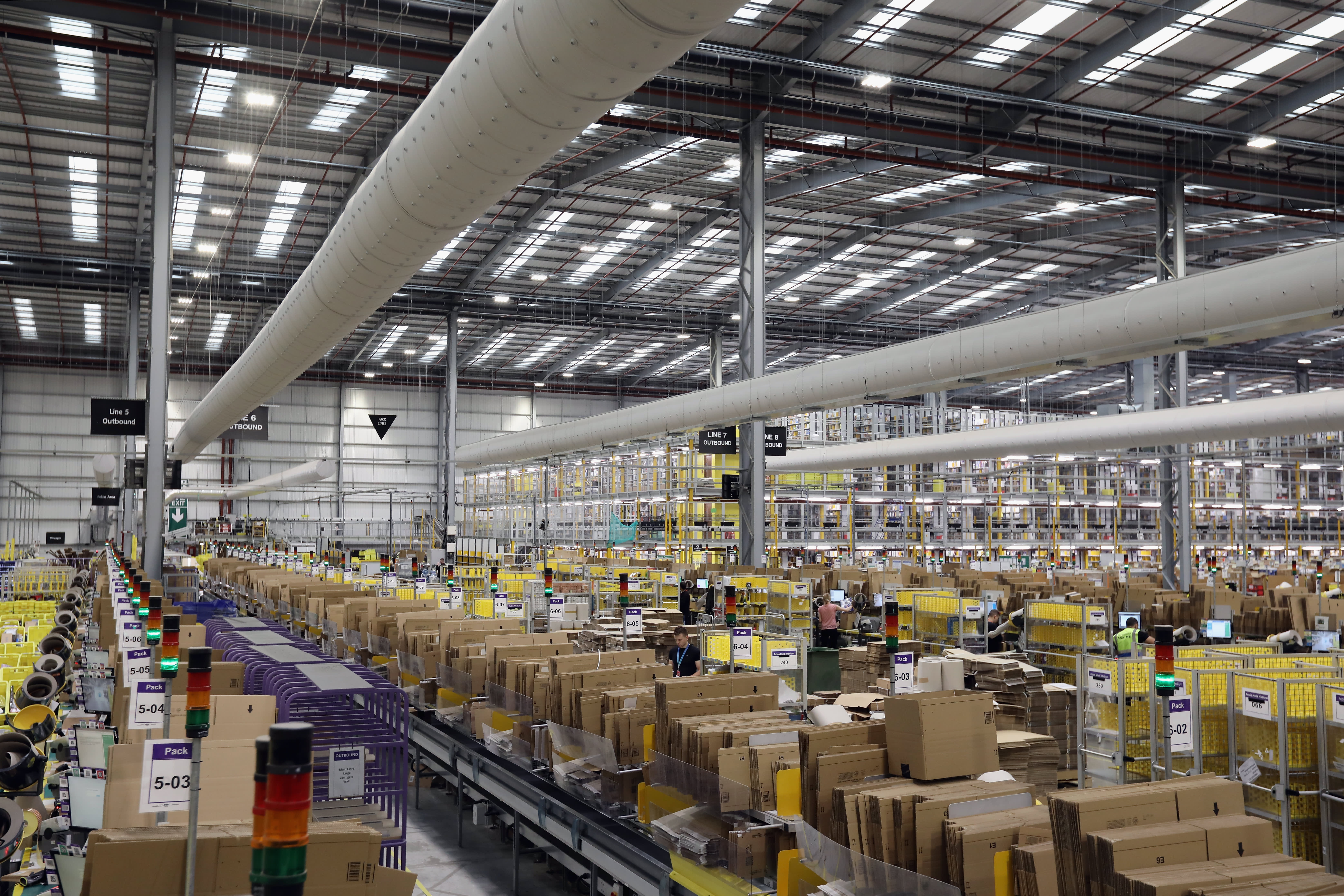 amazon goes big on solar, to install panels at uk fulfillment centersgs scenes at the amazon fulfillment centre as their busiest day approaches