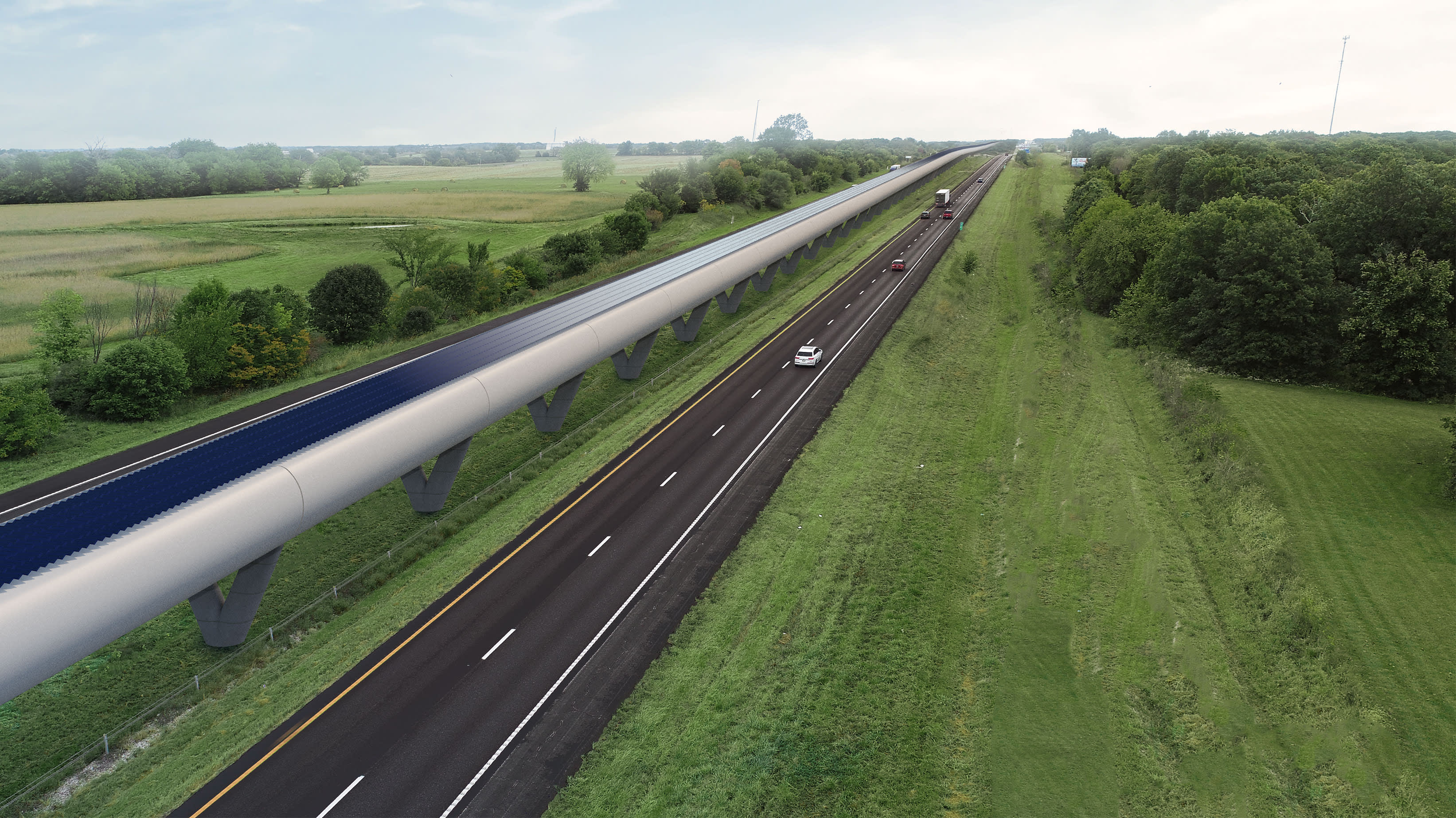 Hyperloop One takes first step on a promising test road in America's heartland