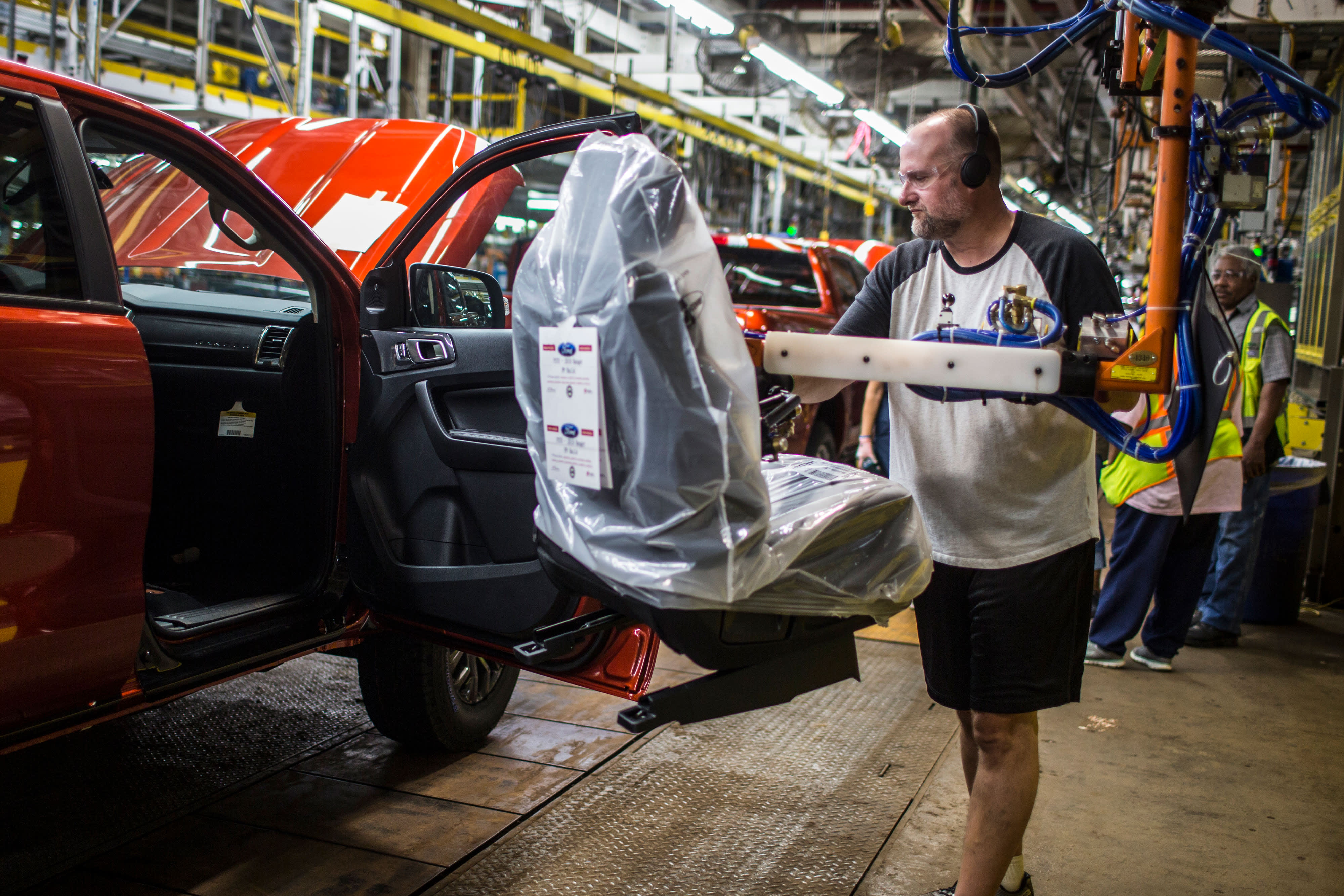 Ford produces the Ranger pickup in the US for the first time in years