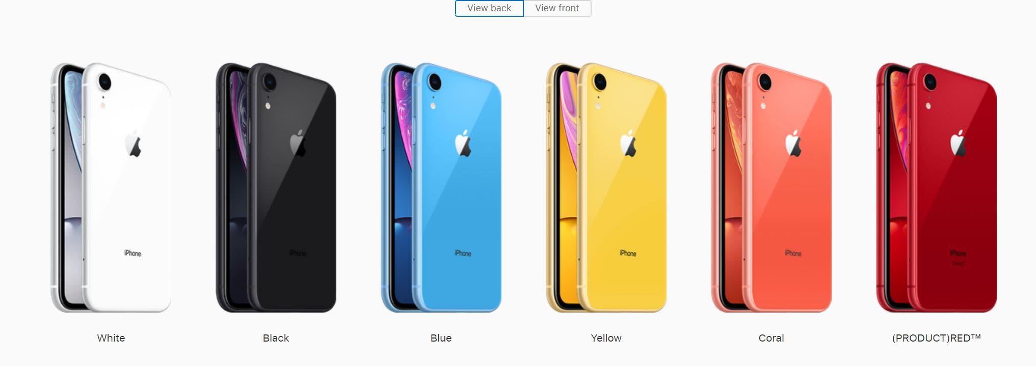 CNBC Tech: iPhone XR range