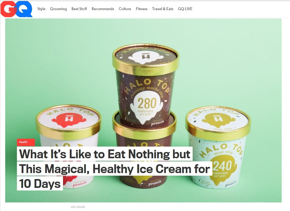 Halo Top GQ article