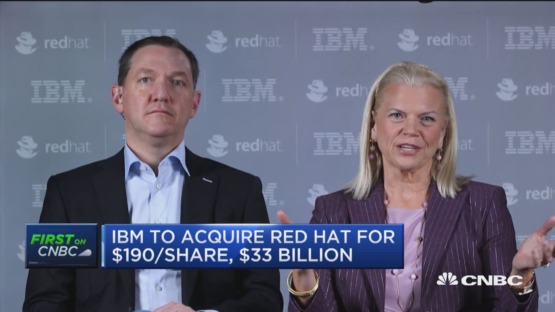 IBM-Red Hat deal is all about resetting the cloud landscape, says IBM CEO  Rometty