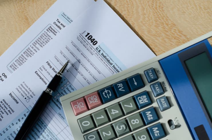 GP: Tax form and a calculator
