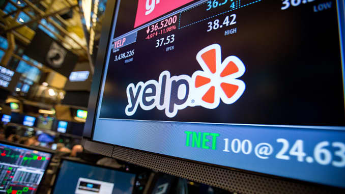 Yelp craters as much as 32% as advertisers abandon the site