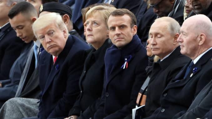 GP: Trump Merkel Macron Putin Armistice WWI Memorial 181111